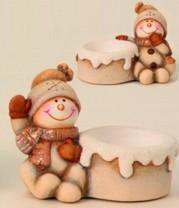 Teelichthalter Schneemann