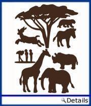 Wandsticker Afrika Set