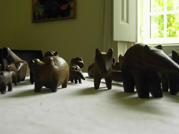Alte Primitive Palo Santos-Figuren