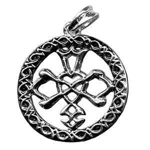 CELTIC WEDDING KNOT versilbert Kettenanhänger Amulett Medallion Pendant