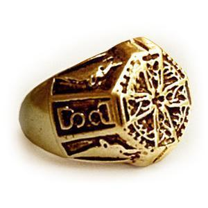 KELTISCHER SIEGELRING vergoldet Ring Schmuck Wikingerschmuck Keltenschmuck Vikingschmuck