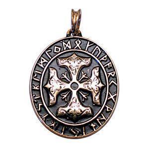 THORSKREUZ vergoldet Amulett Pendant Kettenanhänger Anhänger Wikingerschmuck Keltenschmuck
