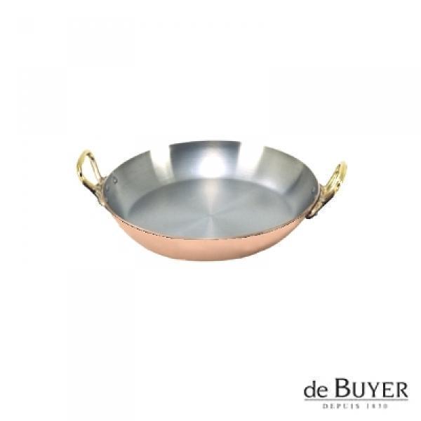 ProPassione de Buyer, Gratinpfanne, rund, 90% Kupfer, 10% Edelstahl, Griffe Messing, massiv, Ø 12 x H 2,0 cm