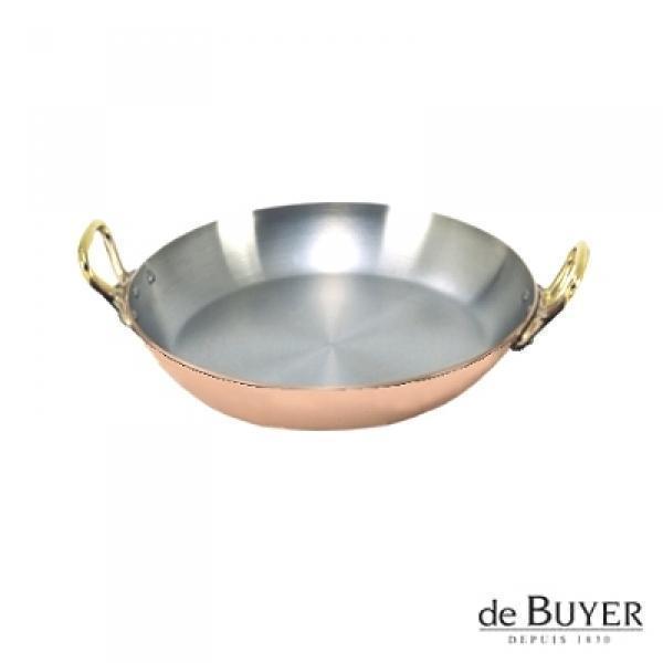 ProPassione de Buyer, Gratinpfanne, rund, 90% Kupfer, 10% Edelstahl, Griffe Messing, massiv, Ø 16 x H 3,0 cm