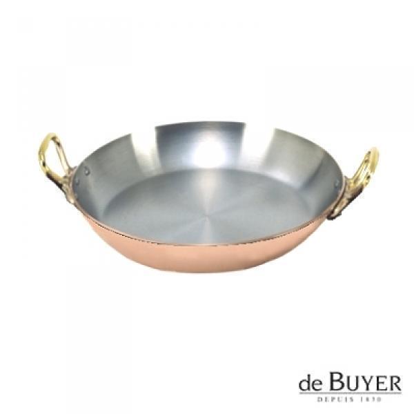 ProPassione de Buyer, Gratinpfanne, rund, 90% Kupfer, 10% Edelstahl, Griffe Messing, massiv, Ø 20 x H 3,0 cm