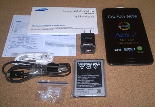Samsung galaxy note n7000 unboxed
