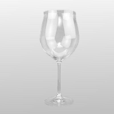 Burgunder-Pokal Weinglas aus Kristalglas klar