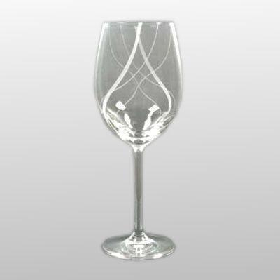 Rotweinglas kristallklar mit Gravur