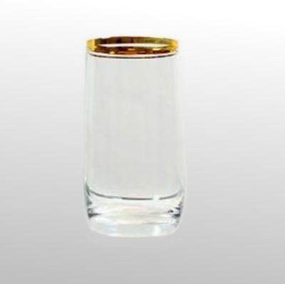 Saftglas mit Goldring glasklar