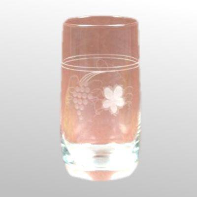 Saftglas Weinlaub glasklar geschliffen