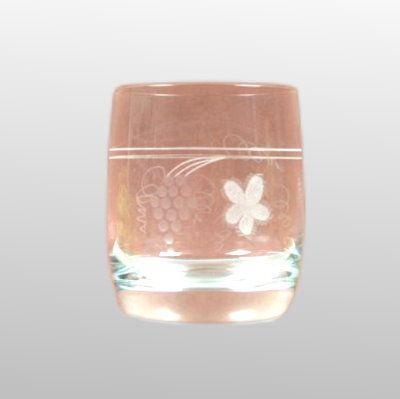 Whiskyglas Weinlaub glasklar geschliffen