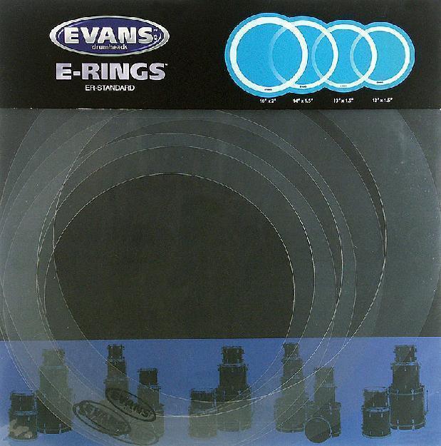 EVANS ER-Standard E-Ring Set 12-13-14-16 Zoll