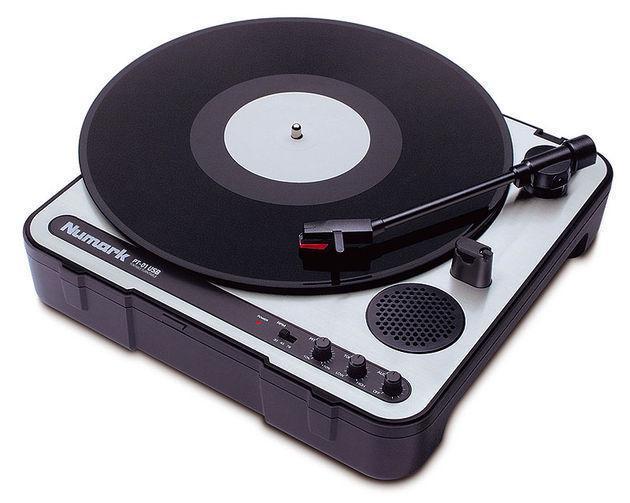 NUMARK PT-01 USB Tragbarer DJ-Plattenspieler mit U