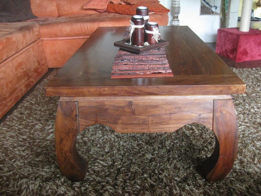 Kolonial-Wohnzimmer-Tisch
