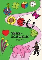 Spardosen-Grußkarte-Sparschwein