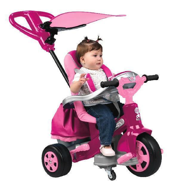 Dreirad Baby Twist Girl mit Schiebegriff