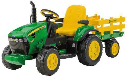 Elektrofahrzeug Peg Perego Traktor John Deere mit Hänger 12 Volt