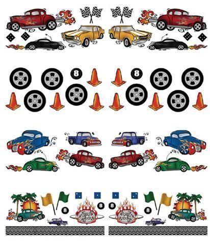 Sticker Aufkleber Wandbild Auto Hot Rods