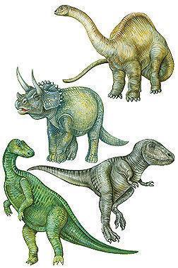 Sticker Aufkleber Wandbild Dinosaurier 4 Stück