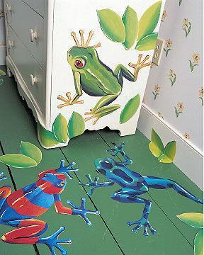 Sticker Aufkleber Wandbild Frösche
