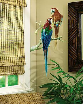 Sticker Aufkleber Wandbild Papageien