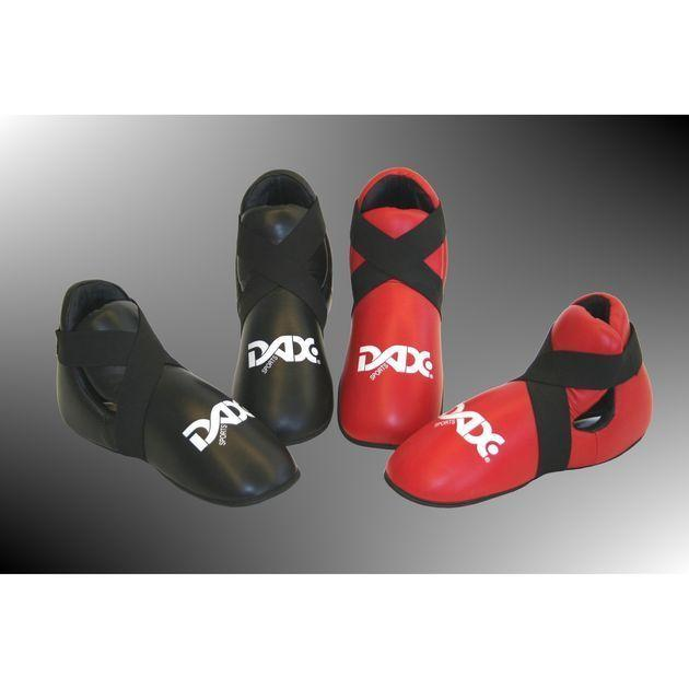 Fußschützer Leder DELUXE von DAX-SPORTS® rot M