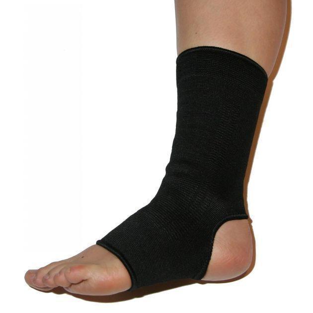 Knöchelbandage, schwarz, elastisch