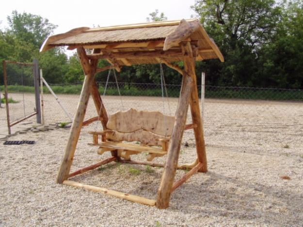 Rustikale Holzmöbel für Garten, Terrasse