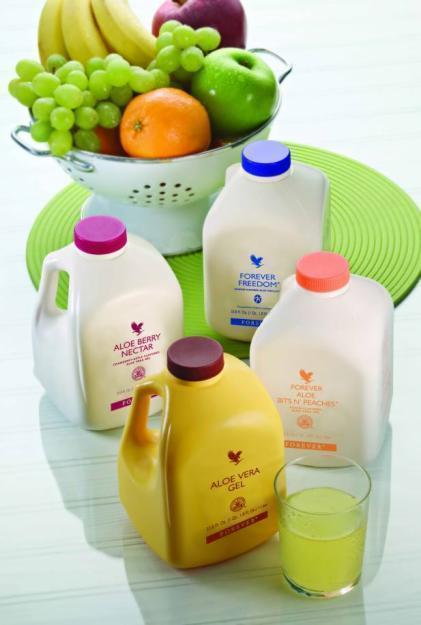 Aloe Vera Trinkprodukte zu verkaufen