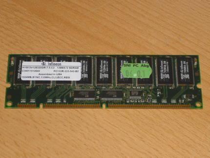 Infineon 1024 MB PC Arbeitsspeichers