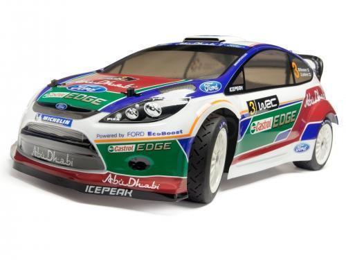 WR8 Flux RTR 2.4GHz mit Ford Fiesta Abu Dhabi WRC Karosserie