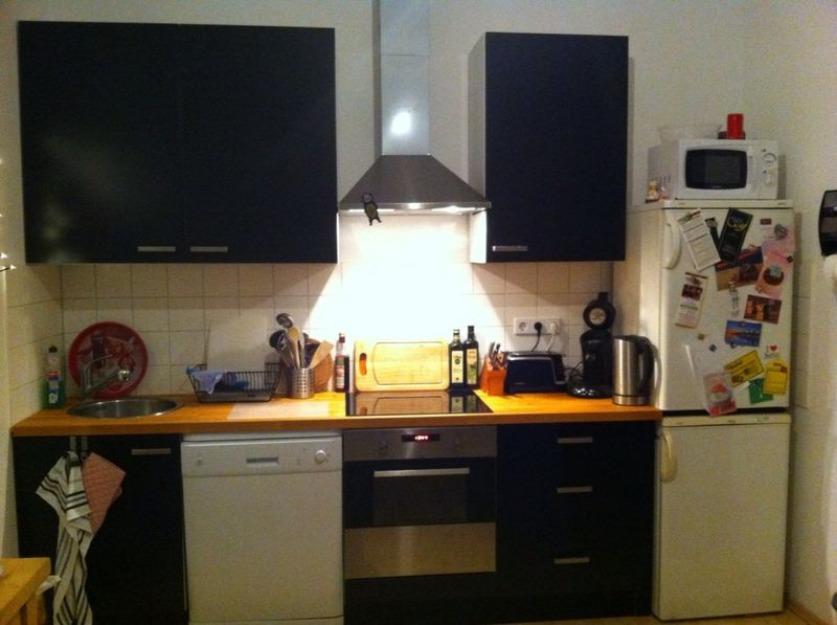 6 mon alte ikea Küche mit Elektrogeräten