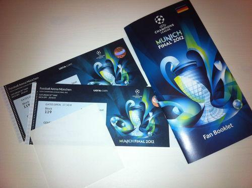 FC Bayern München - FC Chelsea London - Finale - 2 Tickets!!!