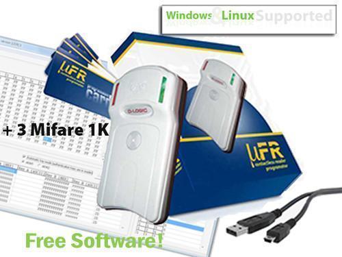 Mifare RFID Kartenleser Schreiber 13,56MHz kostenlose Software Win / Linux