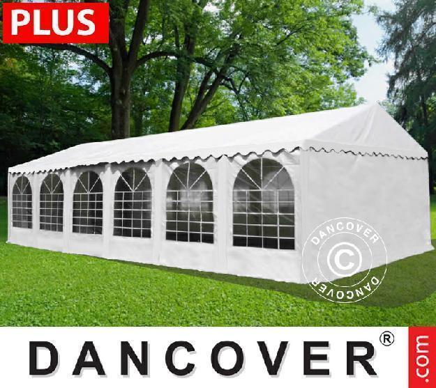 Partyzelt Semi PRO Plus 6x12 m PVC Grau/weiss