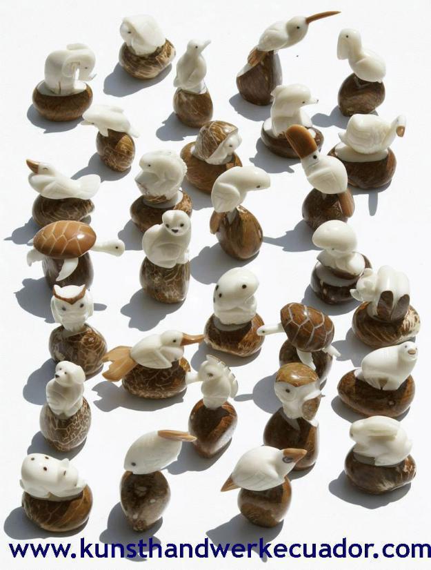 Taguanuss geschnitzte Tierfiguren Statuen Skulpturen, handgemachte Handgeschnitzte Kunst