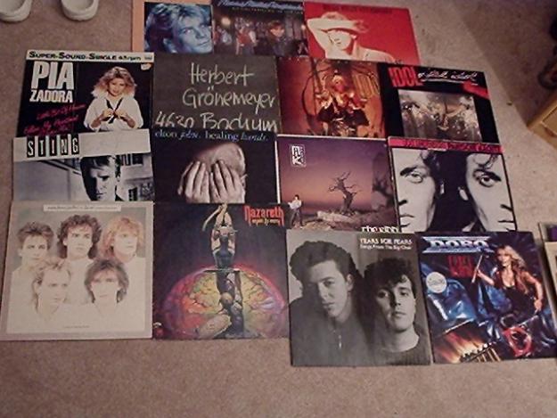 verkaufe hier Schallplatten der 70er,80er,90er Jahre Interesse daran?