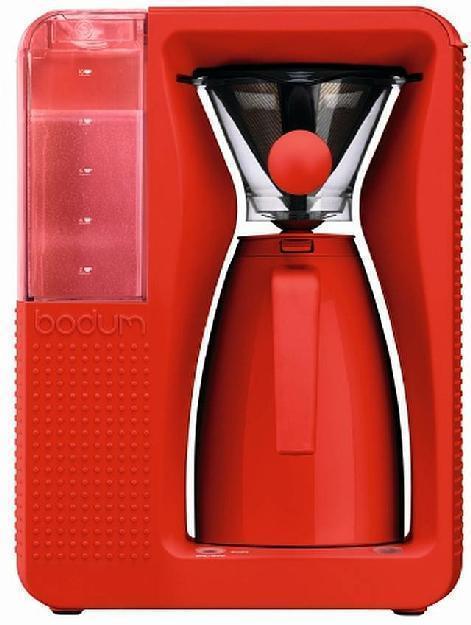 Bodum elektrischer Kaffeebereiter BISTRO, 1,2 l, rot (H.Nr. 11001-294EURO)